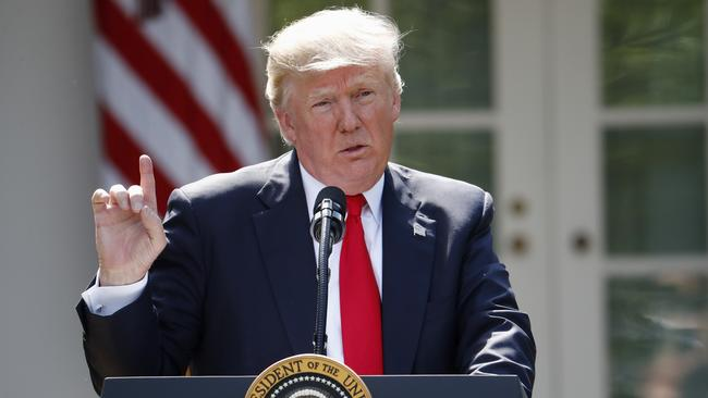 US President Donald Trump has distanced America from global moves to limit global warming. (AP Photo/Pablo Martinez Monsivais, File)