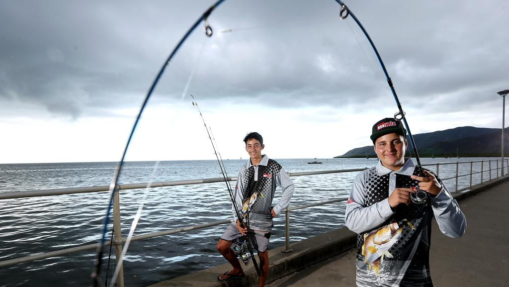 Two cairns teenagers reel in the dream with fishing for Small fishing sponsors