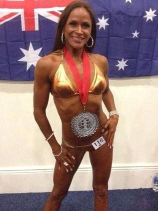 New woman: Rhonda, in her competition gear.