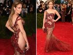Jennifer Lopez at the Met Gala 2015. Picture: Getty