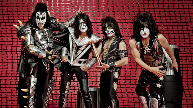 Caught in the net ... Kiss keeping it real in 2015.