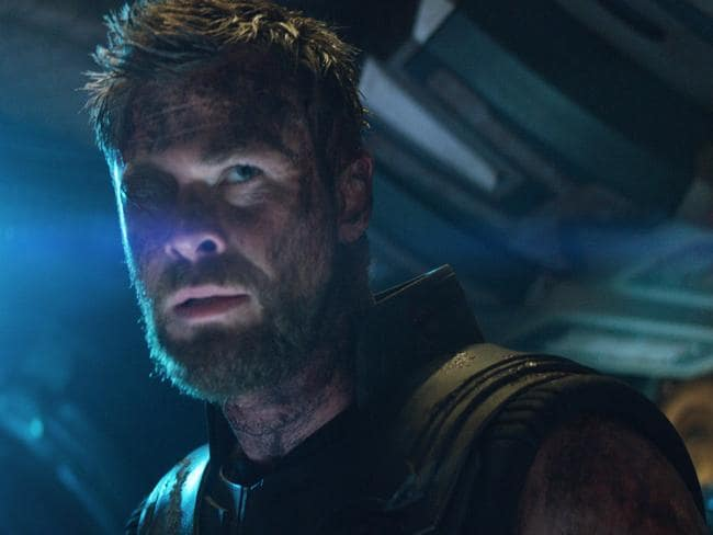 Chris Hemsworth's Thor is back with an eye patch after losing his right eye in Thor: Ragnarok. Picture: Film Frame/Marvel Studios