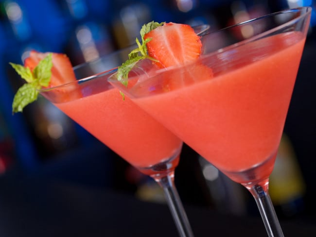 Strawberry daiquiris are a summery cocktail but maybe don't order one on New Year's Eve.