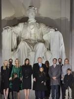 "Ivanka Trump pictured on January 19, 2017, ""On the steps of the Lincoln Memorial with my father, the 45th president of the United States, and family. Such an incredibly meaningful and special moment!"" Picture: AFP"