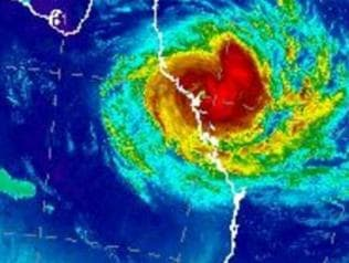 Cyclone Debbie is going to hit and hard, with warnings people won't be able to go outdoors for hours. Picture: Bureau of Meteorology