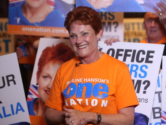 After eight failed attempts Pauline Hanson is back in politics after winning a spot in the Senate. Photographer: Liam Kidston.