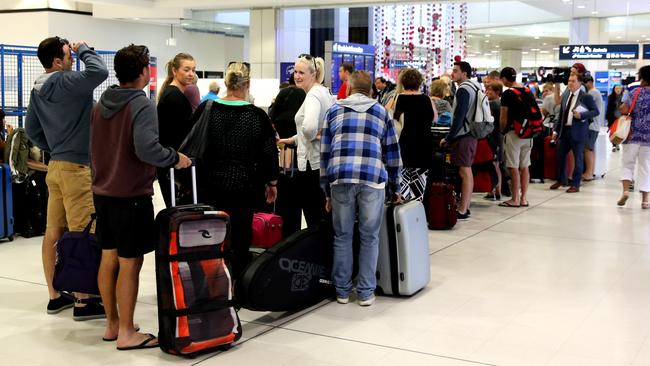 Bigger queues are expected from Thursday when Customs and Border Force staff strike. Picture: John Grainger / News Corp Australia