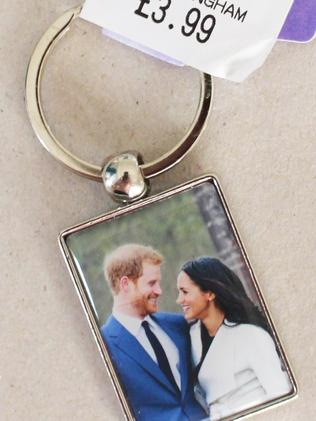 A key-ring marking the engagement of Prince Harry and Meghan Markle. Picture: Supplied