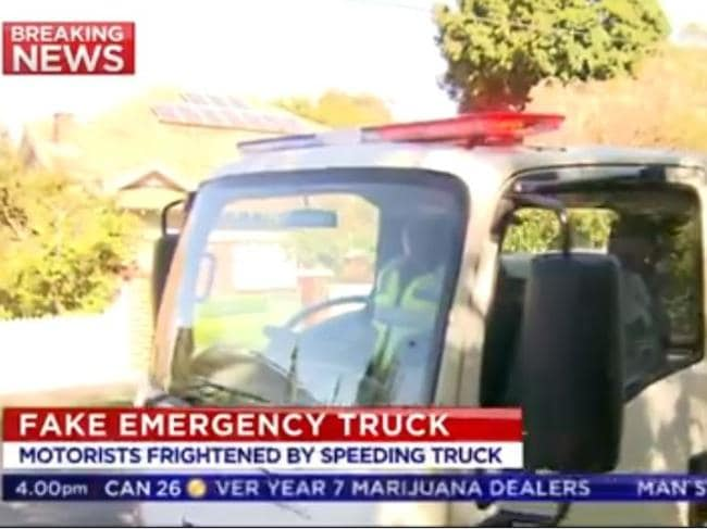 The truck had a realistic sounding siren and horn. Source: 7 News Melbourne.