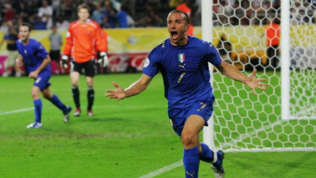 Del Piero fulfilled his dream of winning the World Cup with Italy in 2006.