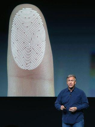 Apple's new iPhone 5S features a fingerprint sensor, has an upgraded camera, and contains an A7 chip. Picture: Getty