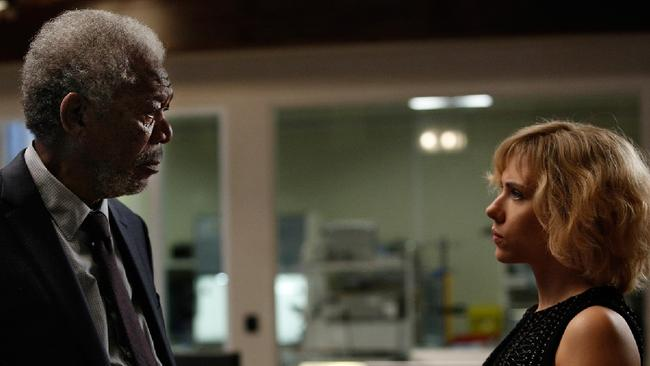 'Did you know about this?' Morgan Freeman stars alongside Johansson in Lucy, but we're not getting our hopes up of a drug to give our brains super powers.