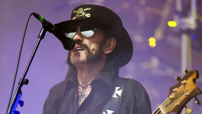 Lead singer and bassist for British rock band Motorhead, Ian 'Lemmy' Kilmister, performing at Glastonbury last year. Picture: AFP