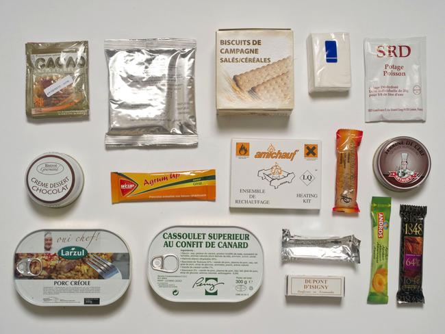 The French ration pack. Picture: Sarah Lee / Eyevine