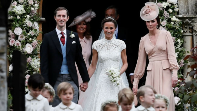 Pippa's gown was always going to be compared to Kate's - and she nailed it. Image: Getty