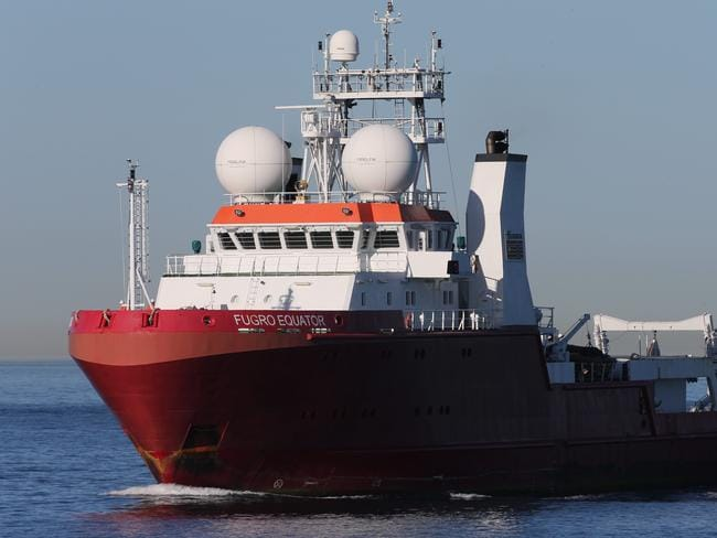 MH370 search ship, Fugro Equator spent six months looking for the aircraft in 2016. Picture: News Corp Australia.