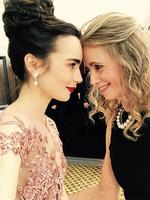 "Lily Collins with Jill Collins ... ""My date..."" Picture: Instagram"