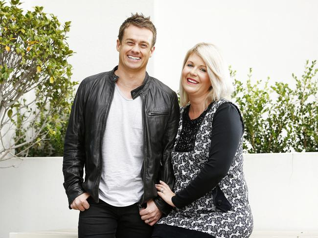 TV personality Grant Denyer with his wife Cheryl.