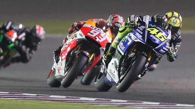 Rossi appeared a match for Marquez in Qatar.