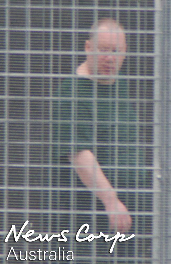 Behind bars ... Martin Bryant pictured at Risdon Prison in Hobart. Picture: Gary Ramage