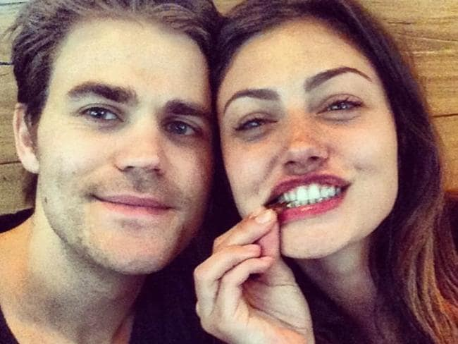 The teen slasher favourite, The Vampire Diaries series has produced yet another loved-up pairing ... co-stars Paul Wesley and Aussie actress Phoebe Tonkin. Picture: Instagram