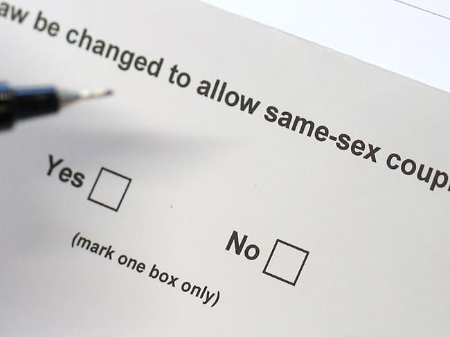 SYDNEY, AUSTRALIA - SEPTEMBER 14:  In this photo illustration the Australian Marriage Law Postal Survey is displayed on September 14, 2017 in Sydney, Australia. More than 16 million voters are eligible to vote in the Australian Marriage Law Postal Survey, which will be mailed by the Australian Bureau of Statistics to all enrolled voters by September 25. Voting closes on November 7 with the Australian Government to reveal the result on November 15.  (Photo by Cameron Spencer/Getty Images)
