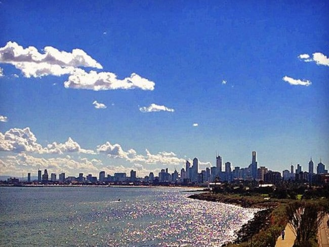 Melbourne from St Kilda on Friday. Picture: adamwasere Instagram