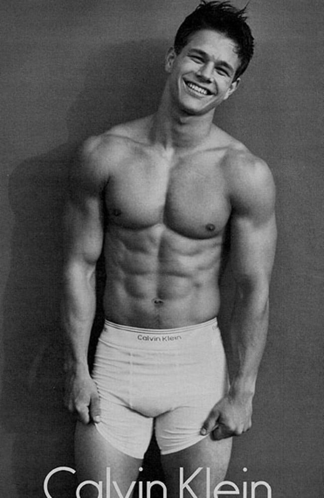 Mark Wahlberg in a Calvin Klein underwear advertisement in 1992.