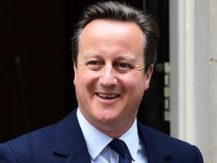 British Prime Minister David Cameron reacts as he departs 10 Downing Street enroute to the Houses of Parliament in central London on June 27, 2016. The British government on Monday agreed to establish a new civil service unit that will have the complex task of negotiating the country's departure from the European Union, outgoing Prime Minister David Cameron's spokeswoman said. London stocks extended their losses in early afternoon Monday, led by banking, airline and property shares, following Britain's vote to leave the EU. / AFP PHOTO / LEON NEAL