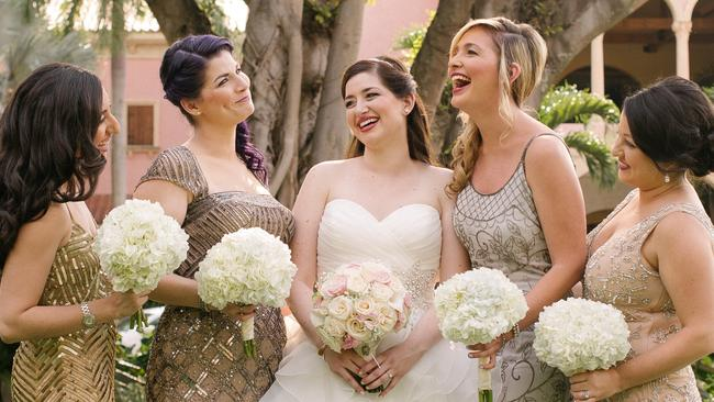 Jen (second from right) offers packages that just cover the behind-the-scenes wedding planning, or she can stand up with you at the alter on your big day.