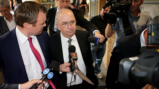 Witness John Rippon, a former director of Australian Water Holdings, leaving ICAC after g