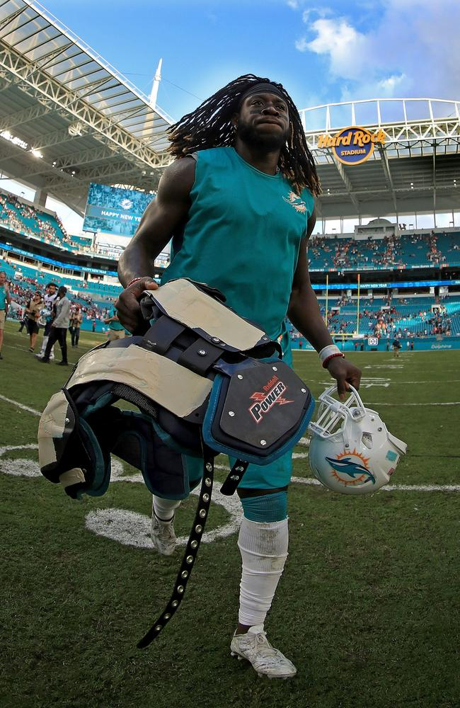Jay Ajayi #23 of the Miami Dolphins.
