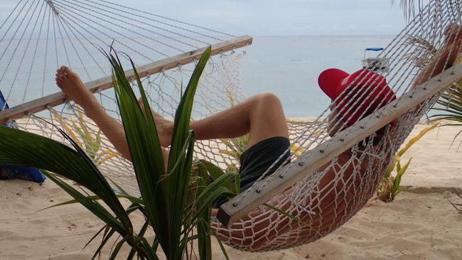 Tyson Mayr enjoying some quality hammock time. Picture: Tyson Mayr