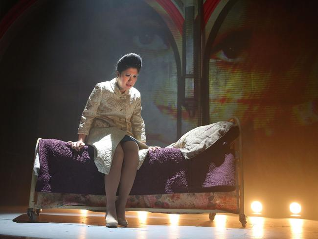 Ruthie Ann Miles in Here Lies Love. Picture: Joan Marcus