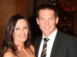 NEWS: NEWS: Richmond Best and Fairest at Crown Casino. Ben Cousins with Maylea Tinecheff.