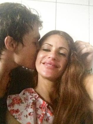 In love ... Bali Nine member Scott Rush and Nikki Butler.