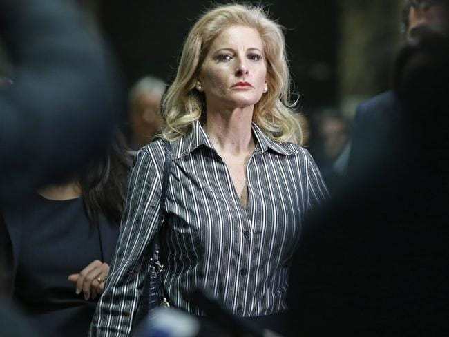 Summer Zervos is suing Donald Trump in a defamation lawsuit. Picture: Kathy Willens/AP