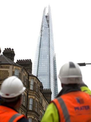 Stunned residents and tourists looked up in awe as Dynamo continued to ascend between the Shard towers.