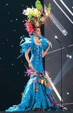Sharlene Radlein, Miss Jamaica 2015 debuts her National Costume on stage at the 2015 Miss Universe Pagaent on December 16, 2015 in Las Vegas. Picture: HO/The Miss Universe Organization