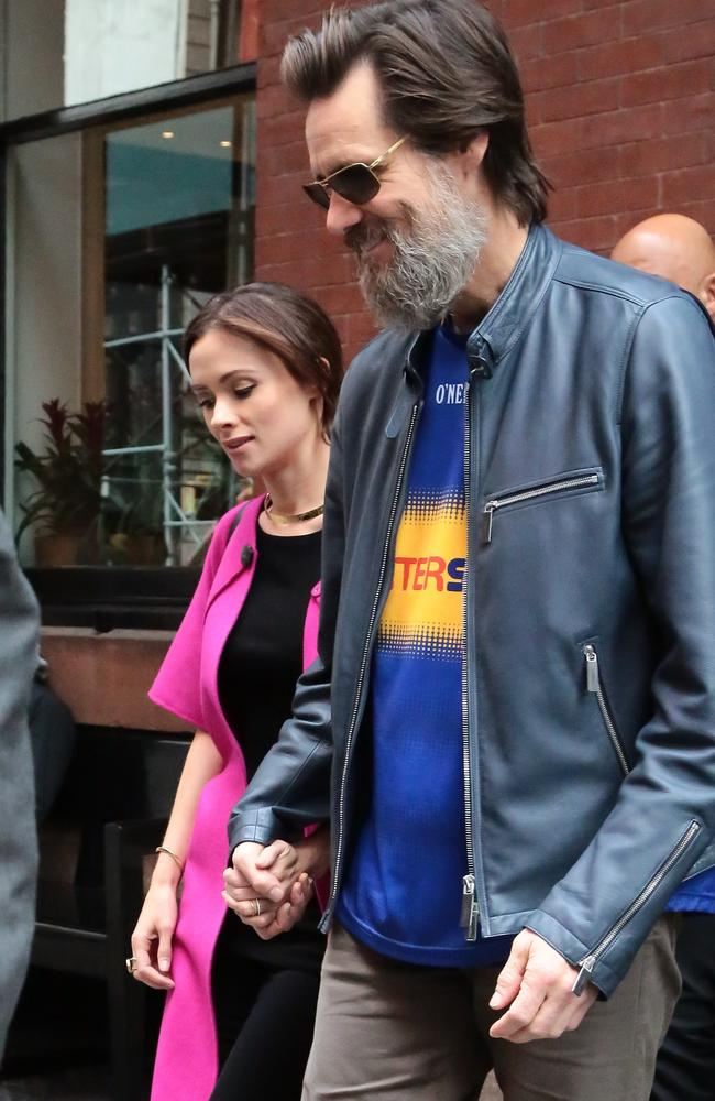 Carrey and his late ex, Cathriona White.