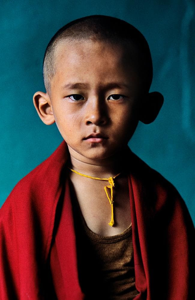 Steve McCurry India exhibtion - Young Rinpoche, Bylakuppe, Karnataka, 2001. Picture: Steve McCurry