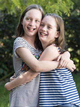 Twins Ellie and Rosie both contracted the flu but there were fears Rosie would not survive. Picture: Darren Leigh Roberts