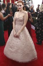 Madeline Brewer arrives at the 24th annual Screen Actors Guild Awards at the Shrine Auditorium & Expo Hall on Sunday, Jan. 21, 2018, in Los Angeles. (Photo by Matt Sayles/Invision/AP)