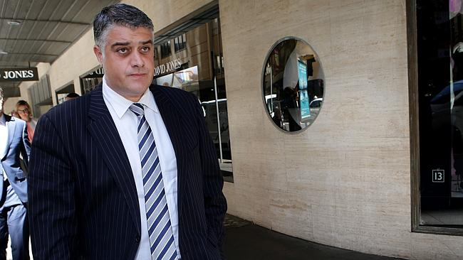 Former State Water Corporation and Australian Water Holdings director Nick Di Girolamo leaving ICAC.