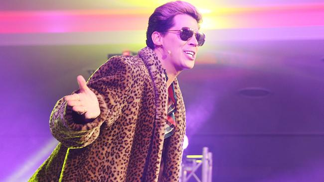 Milo Yiannopoulos is more than just a journalist, he's a performer. Picture: NewsCorp.