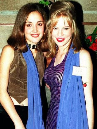 Big break ... Rose Byrne and Jessica Napier at launch of the 1994 show Echo Point. Picture: Supplied