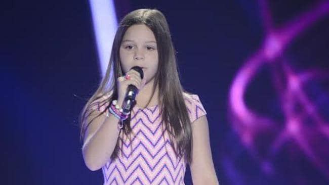 Big effort ... Romy, 12, sang Adele's Turning Tables, but was hurt when the judges didn't turn around.