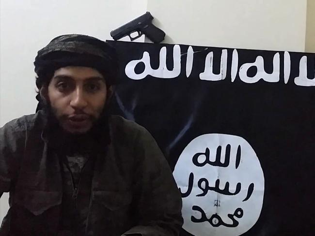 Suspected Paris attacks mastermind Abdelhamid Abaaoud, also known as Abu Umar al-Baljiki, speaking to the camera in an Islamic State propaganda video.