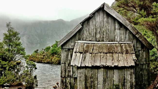 A boatshed near Cradle Mountain. Picture: Rodney Chester