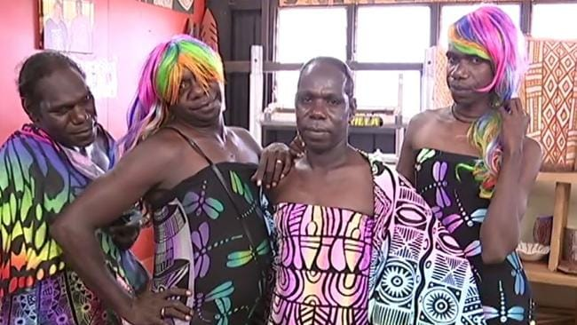 The Tiwi Islands sistagirls are heading to the Sydney mardi gras. Picture: ABC News